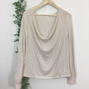 Free people Palmer shimmer jersey t shirt
